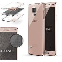 Urcover® Samsung Galaxy Note 4 | Funda Carcasa Protectora 360 Grados | TPU en Rosa | Protección Completa Case Cover Smartphone Móvil Accesorio