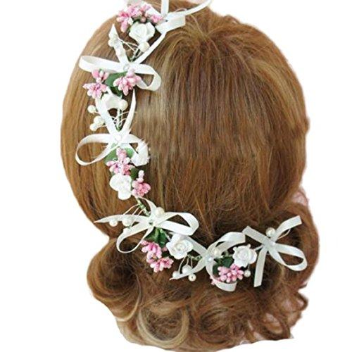 Malloom Mariage De Demoiselle D'honneur Boho Festival Fleur Floral Cheveux Front Bandeau Guirlande