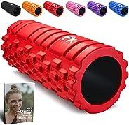 FFEXS Foam Roller Grid Massage Roller met Digitaal Trainingsboek - Perfect voor Trigger Point Massage van Rug Benen Billen F