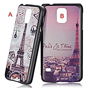 Aesthetic Eiffel Tower Pattern PC Back Case for Samsung Galaxy S5 i9600
