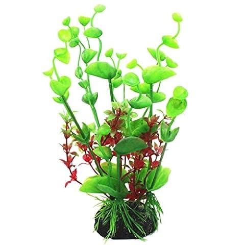 Sanwood® 20cm Höhe Kunststoff Künstliche Wasser Pflanzen für Aquarium Kunststoff Dekoration (Pflanzen Aquarium Ornament Dekoration)