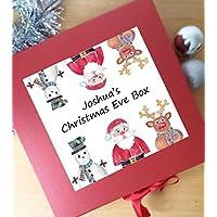 tigerlilyprints Christmas Eve Box, Personalised Christmas Eve Box, 1st Christmas Keepsake Box, Santa Box