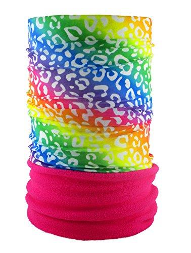 HeadLOOP POLAR EXTRA LANG Pink Fleece + Schlauchtuch Multifunktionstuch Schal Halstuch Kopftuch Microfaser - Winter-polar-fleece