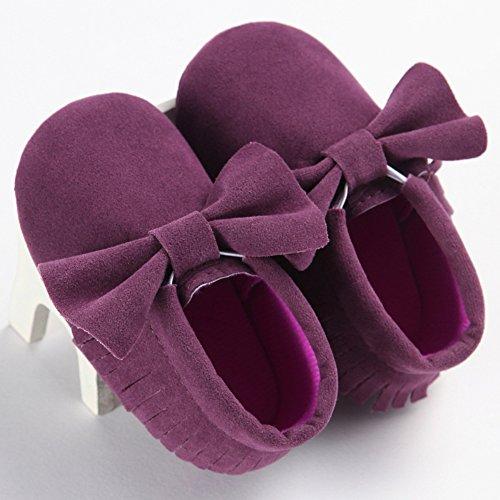 Sapatos Walker Roxo Fogo Bebê Meninas Mocassins Sapo wC60qtE