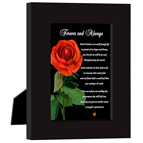 Poetry Gifts Best Geburtstag Oder Jahrestag Geschenk zu Sagen, Ihr Mann Oder Frau, Dass Sie Will Love Forever und Immer-Romantisches Gedicht mit Rot Rose Print