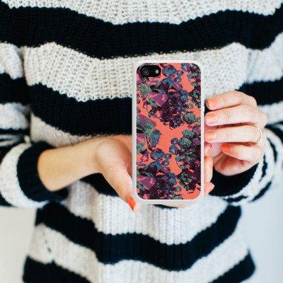 Apple iPhone 5 Housse Étui Silicone Coque Protection Pierres précieuses Motif Motif Housse en silicone blanc