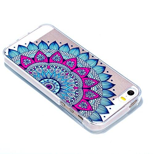 iPhone5/5S/5SE Fall, xinyiyi stoßfest Soft Shell Langlebige iPhone5/5S/5SE kratzfeste TPU Handy Fall Datura flowers