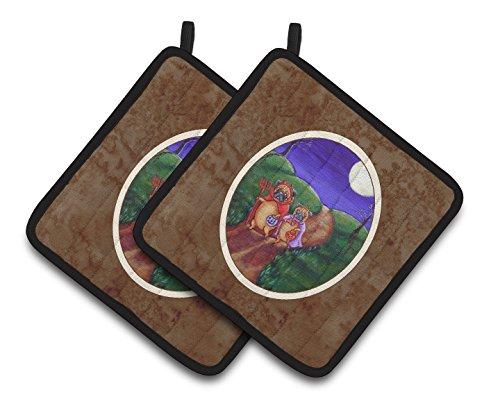 Caroline 's Treasures Trick or Treat Halloween Mops Paar Topflappen 7281pthd, 7.5hx7.5W, multicolor