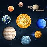 Extsud Neun Planeten Wandsticker Leuchtaufkleber Leuchtsticker Sonne Erde fluoreszierend Wandaufkleber
