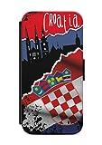 Samsung Galaxy A3 2017 Kroatien Croatia Fussball Fahne Flip Tasche Hülle Case Cover Schutz Handy