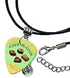 Chocolatier Chocolates Guitare Médiator Cordon En Cuir Collier (MW)