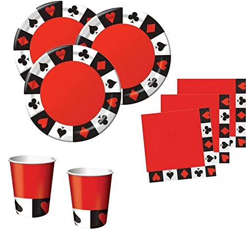 (48 Teile Poker Motto Party Basis Deko Set 16 Personen)