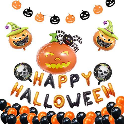 SilenceID Halloween Ballon Banner Set Halloween Home Bar Hängende Dekoration Kombination Ballon Feier Party Requisiten