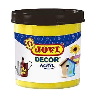 Jovi - Acryl, Caja de 6 Botes, Pintura multisuperficie, Color Amarillo (67002)