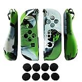 Hikfly 2pcs Gel di Silicone Grip Antisdrucciolevole Coprire i Kit di Protezione Protezioni della pelle per Nintendo Switch Joy-Con...