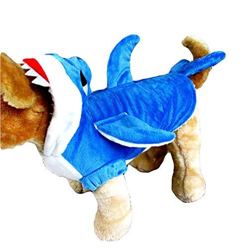NACOCO Pet Shark Kostüm Kleidung, Cute Weihnachten Dog Apparel Outfit für große Hunde, Herbst und Winter, blau, 3XL (Cute Dog Kostüm Für Große Hunde)