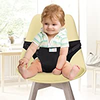 GHB Chaise Haute Portable Bébé Chaise Nomade pour Sécurité Chaise et Alimentation bébé Facilement Dehors