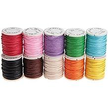 Hilo de algodón encerado cordón cadena joyería cordón rebordear cable joyería ...