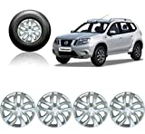 #4: Auto Pearl - Premium Quality Car Full Caps Silver 16inches Wheel Cover For - Nissan Terrano