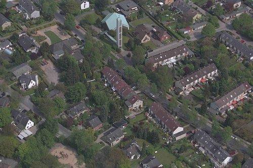 MF Matthias Friedel - Luftbildfotografie Luftbild von Bahnhofstraße in Norderstedt (Segeberg), aufgenommen am 04.05.99 um 12:18 Uhr, Bildnummer: 0592-27, Auflösung: 3000x2000px = 6MP - Fotoabzug 50x75cm
