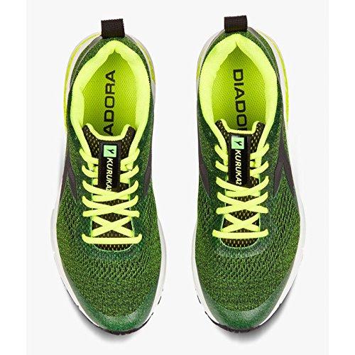 Diadora Kuruka 2, Chaussures de Running Compétition Homme C5705 Verde Fluo Nero
