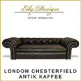 Perros sofá London Chesterfield Antiguo Café XXL