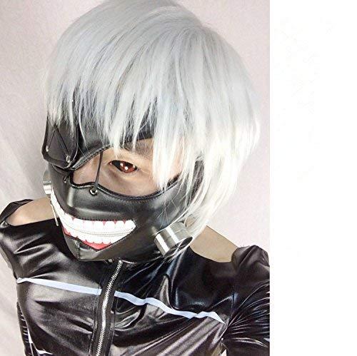 LAIE Cosplay Tokyo Ghoul Kaneki Ken Zipper ršŠglable Masques en cuir PU Masque cool