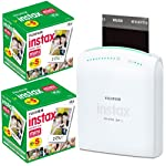 The Fujifilm instax SHARE Smartphone Printer SP-1 is a printer that allows you to shoot photos with a smartphone or tablet, and then send them to the printer using Fujifilm's free downloadable instax