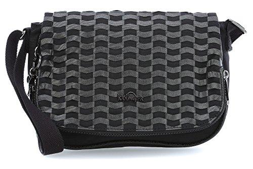 Kipling Damen Earthbeat S Umhängetaschen, 26x17x7 cm weaving black