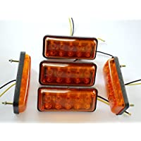 5x 24V LED frontal ourtline naranja luces marcador lateral para camión REMOLQUE chasis caravana Camper Autocaravana