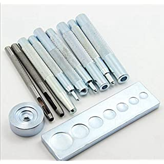 11pc Rivet Installation Kit Leather Die Hole Punch Snap Rivet Button Tools Set 6 to 15mm