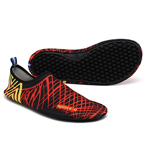 Mulheres Sports Urso Com Listras Ventilação Românticos Aqua Holey Pretas Piscina Vermelhas Sapatos Meias Dry Homens A8 Quick Água S4vxvqd