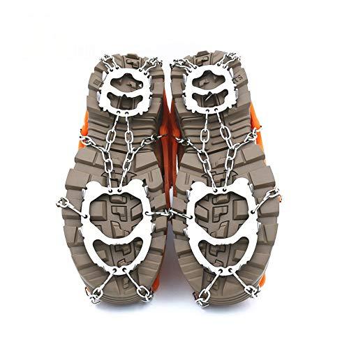 Steigeisen 12 Zähne Paletten Rutschmatte Aus Rostfreiem Kletterschuh Outdoor-Skibergsteigen Schneeantriebsschlupf Zugmittel Wandern (Farbe : Orange, Größe : M)