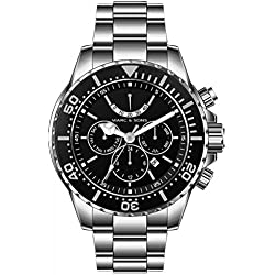 MARC & SONS 1000M automatic watch - Professional mechanical watch Power reserve - MSD-041