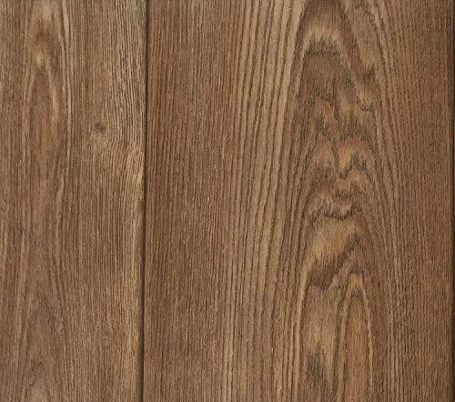 PVC Vinyl-Bodenbelag in Walnuss Optik | CV-Belag im Landhausdielen-Stil | PVC-Belag verfügbar in der Breite 300 cm & in der Länge 200 cm | CV-Boden wird in benötigter Größe als Meterware geliefert