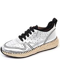 B9676 sneaker donna TOD/'S scarpa sportivo allacciato nero//leopardato shoe woman
