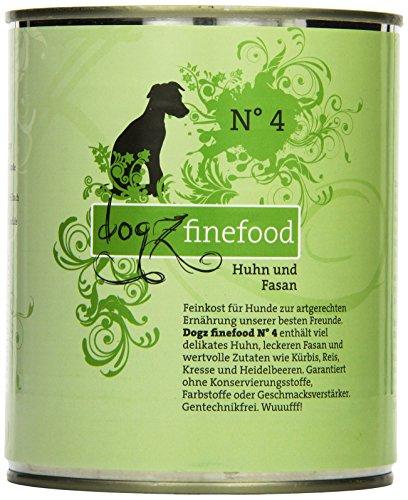 Dogz finefood Cani mangime No. 4Pollo & Fagiano 800G, Confezione da (6X 800G)