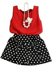 Las niñas falda traje, Internet chaleco + Set de dos piezas Vestido plisado