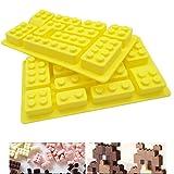 LEGO Silikon Form 2/Set, lebensmittelechtes Antihaft-Streifen Ice Cube Form, Jelly, Kekse, Schokolade, Süßigkeiten, Cupcake Backform, Muffin Pfanne