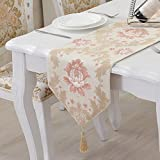 HJHET Continental coffee table high quality and sumptuous fabrics jacquard dining table table flag is simple and stylish custom pillowtop ,33*210cm flag