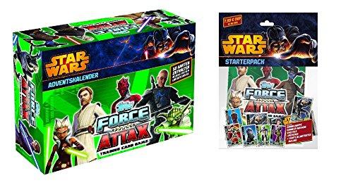 Force Attax Star Wars the Clone Wars Serie 5 Starter Set Sammelmappe + Adventskalender