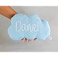 Cojín nube para bebé personalizado.