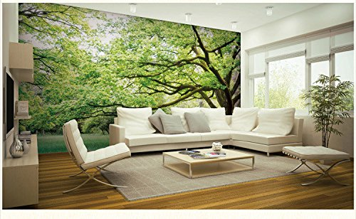 WH-PORP 3D tapete Murals Nature Landscape Scenery Trees3D Wall Photo Murals For Living Room-300cmX210cm