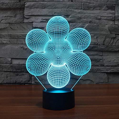 r Home Office Raum Thema Dekoration Abstrakte 3D Led Lampe 7 Farben Ändern Touch Button Kreatives Design Illusion ()