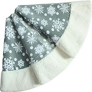 SORRENTO Polar Fleece Snowflake,Christmas Holiday,Tree Skirt -Extra Large 49-50 by SORRENTO