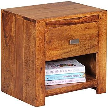 wohnling table de chevet palissandre marron. Black Bedroom Furniture Sets. Home Design Ideas