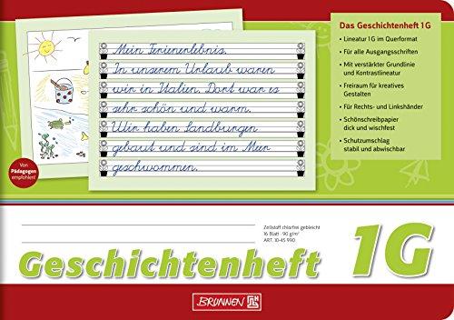 Brunnen 1045990 Geschichtenheft Klasse 1 (A5, 16 Blatt, Lineatur 1G)