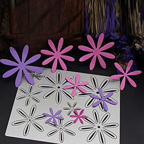 Xshuai® New Flower Heart Metal Cutting Dies Stencils DIY Scrapbooking Album Paper Card Craft for Embossing Lessons Party Decoration