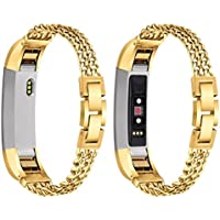 For Fitbit Alta HR/Fitbit Alta Band, Toamen Stainless Steel Double Chain Watch Band Wrist strap For Fitbit Alta HR/Fitbit Alta
