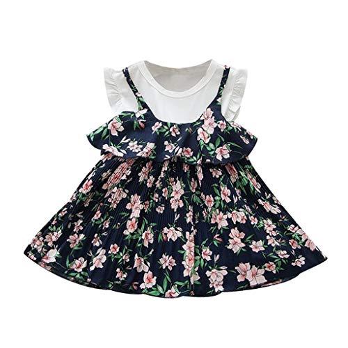 drey 1950er Vintage Hepburn Kleid Prinzessin Ballett Tutu Rock Party,Kleinkind Baby Kinder Mädchen Rüschen Blumen Blumen Kleid Prinzessin Kleider Kleidung ()